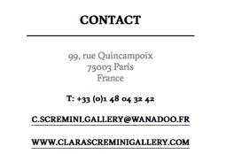 Galerie Clara Scremini_CONTACT